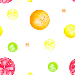 Fruit oranges drawn watercolor background