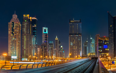 Skyline of Dubai downtown, UAE