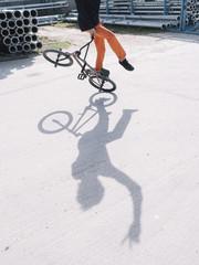 BMX jumper in motion