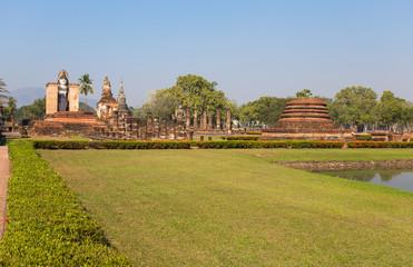 SUKHOTHAI, THAILAND, FEBRUARY, 23, 2017 - Sukhothai Historical Park, Sukhothai, Old City, World Heritage Site, UNESCO, Thailand.