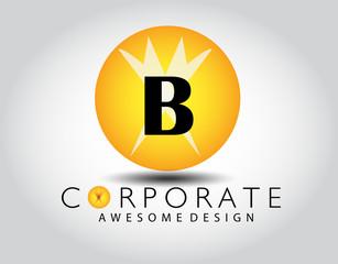 B Letter Logo Design.Sign.Symbol.Typography