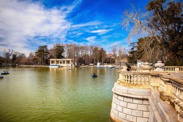 The Buen Retiro Park in Madrid Spain