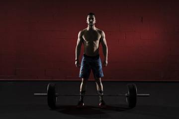 Muscular posing