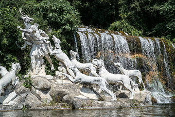 Deer headed Atteone -  group of staues at Royal Palace of Caserta