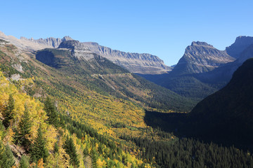 Wall Mural - Mountains and Valley in Glacier National Park