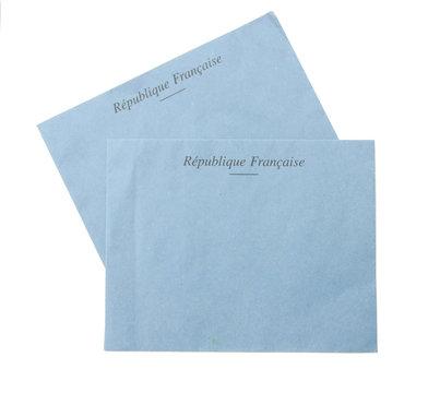 envelope ,bulletin de vote ,isolé,fond blanc