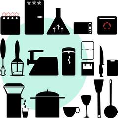 icons. kitchen appliances