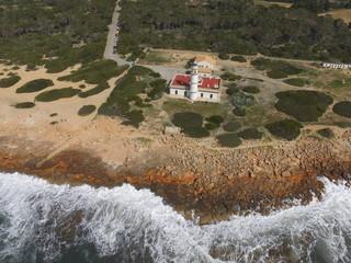 Faro de cap de ses Salines, Mallorca, Baleares, España