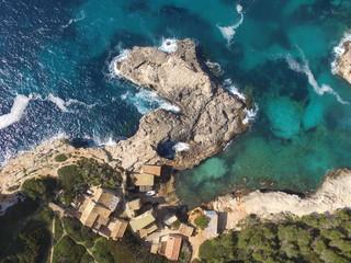 Puerto en cala Santanyi, Mallorca, España