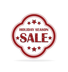 Big sale stamp label. Holidays season