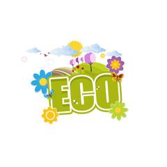 Creative Green Eco Label Design in Editable Vector Format.
