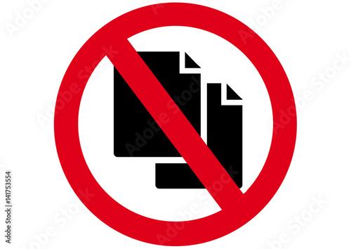 Schild Kopieren Verboten Stockfotos Und Lizenzfreie Vektoren Auf