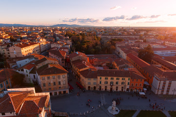 Europe,Italy,Tuscany,Pisa..City views at sunset