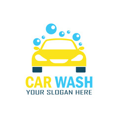 car wash service logo with text space for your slogan, vector illustration