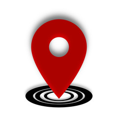 Location Place Red and Black Icon Vector