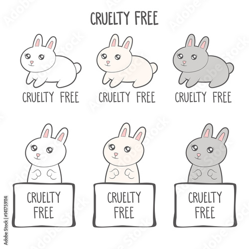 Cruelty Free Icon Design No Animals Testing Sign Icon Product Not