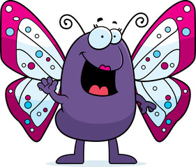 Cartoon Butterfly Waving