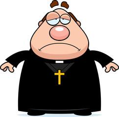 Sad Cartoon Priest