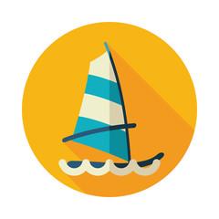 Board Windsurfing icon. Summer. Vacation