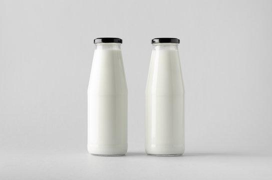 Milk Bottle Mock-Up - Two Bottles