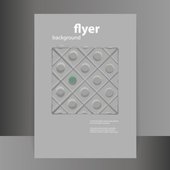 Flyer or Cover Design with Abstract Grey Pattern