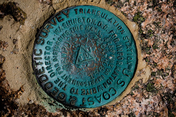 Geodetic Survey Marker at Acadia National Park