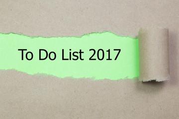 To Do List 2017 written under torn paper