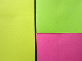 yellow, green,pink background color