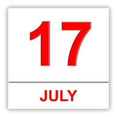 July 17. Day on the calendar.