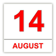 August 14. Day on the calendar.