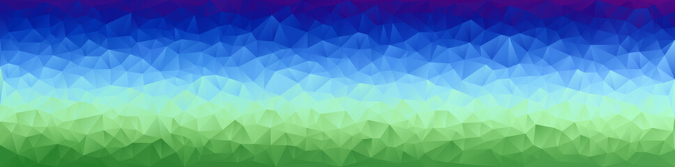 Vector Illustration - Bright Abstract Mosaic Horizontal Polygonal Gradient Banner, Background