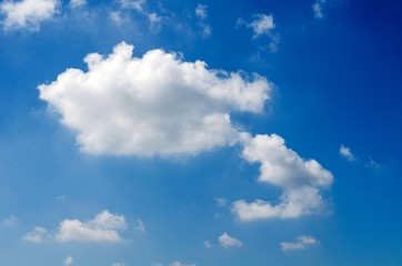 beautiful blue sky with cloud.