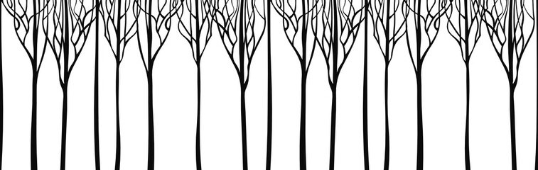 Background stylized trees. Vector illustration.