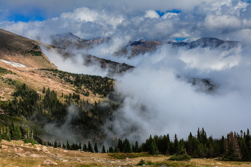 Foggy Mountain Peaks in Colorado