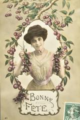 Carte postale ancienne / Bonne fête