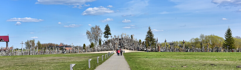 The Hill of Crosses is a site of pilgrimage about 12 km north of the city of Siauliai, in northern Lithuania.