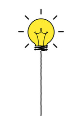 idea balloons, freedom idea concept, float balloons, business creative concept, many creative ideas in the sky, vector illustrator