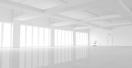 Leerstehendes weißes Büro