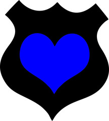 Badge with Heart