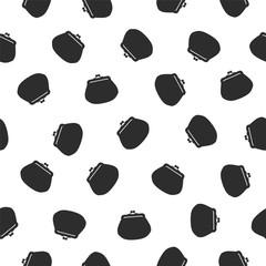 Seamless pattern - purse (handbag)
