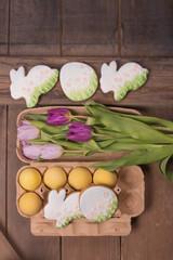 Easter egg, gingerbread cookies