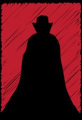 Dracula Scribble Grunge In Red