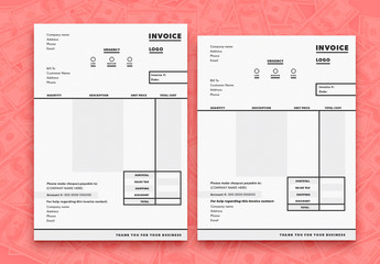 Business Invoice Layout 2