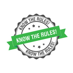 Know the Rules stamp illustration
