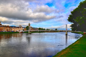 Overview of Inverness considered the capital of the Highlands region. The city of Inverness is situated at the mouth of the River Ness in the Moray Fjord.