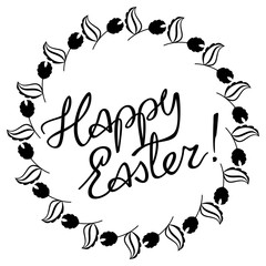 """Artistic written greeting text """"Happy Easter!"""""""