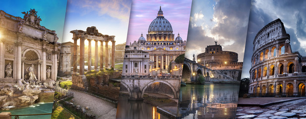 Printed roller blinds Central Europe Rome et Vatican Italie