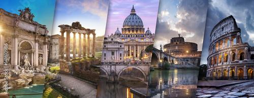 Wall mural Rome et Vatican Italie