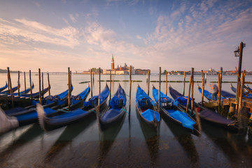 Europe, Italy, Venice at dusk, province of Venice.