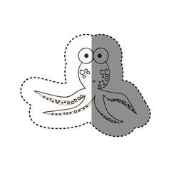 figure surprised octopus caartoon icon, vector illustration design